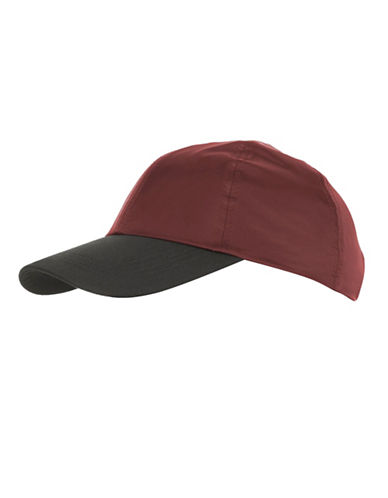 Topshop Mix Nylon Baseball Cap-RED-One Size
