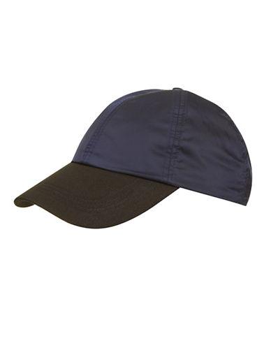 Topshop Mix Nylon Baseball Cap-BLUE-One Size