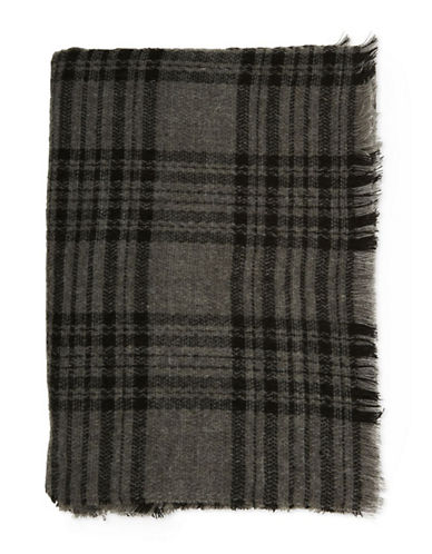 Topshop Plain Scarf-CHARCOAL-One Size