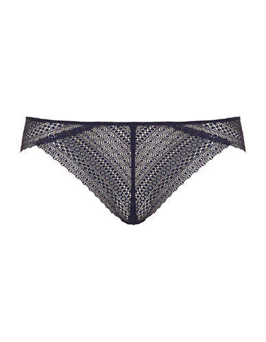 Topshop Crochet Lace Brazilian Panties-NAVY BLUE-UK 6/US 2