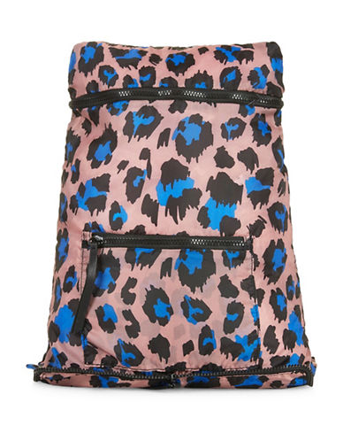 Topshop Foldaway Backpack-BLUE-One Size