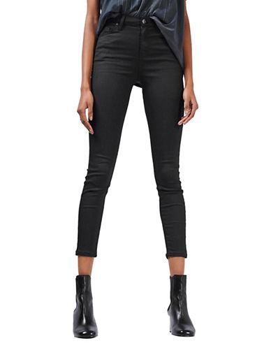Topshop MOTO Coated Jamie Jeans 32-Inch Leg-BLACK-26X32