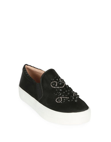 Topshop TWINKLE Slip On Trainers-BLACK-EU 40/US 9.5 88989489_BLACK_EU 40/US 9.5