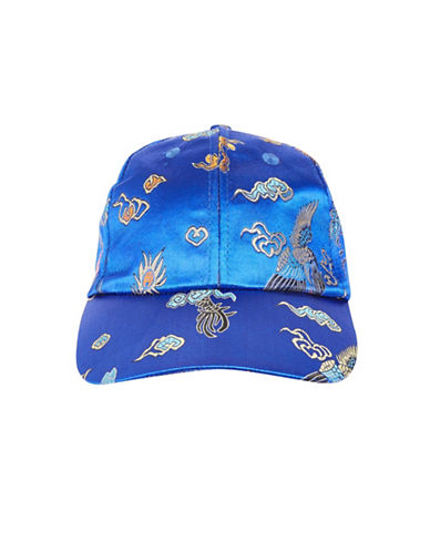 Topshop Floral-Printed Jacquard Cap-LIGHT BLUE-One Size