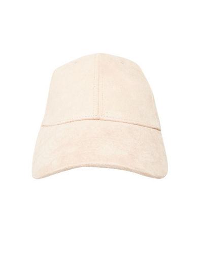Topshop Suedette Cap-NUDE-One Size