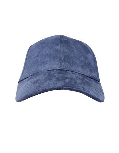 Topshop Suedette Cap-NAVY BLUE-One Size