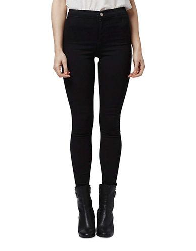Topshop PETITE Holding Power Joni Jeans 28-Inch Leg-BLACK-24X28