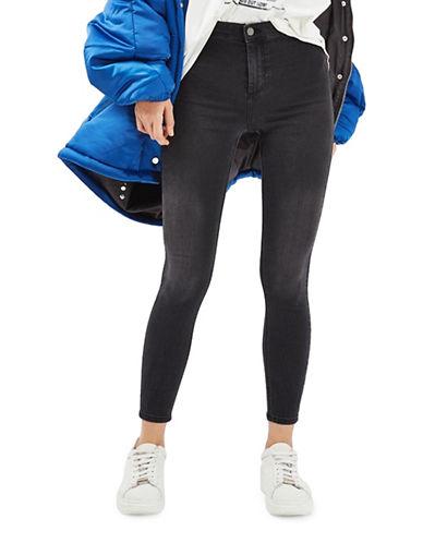 Topshop PETITE MOTO Joni Jeans 28-Inch Leg-BLACK-28X28