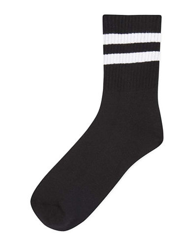 Topshop Sporty Tube Ankle Socks-BLACK-One Size