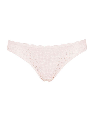 Topshop Summer Floral Lace Thong-LIGHT PINK-UK 6/US 2