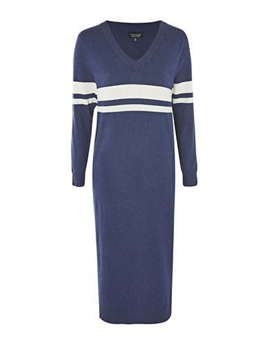 Topshop Oversized Knit Midi Dress-DENIM-UK 8/US 4