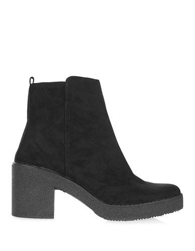 Topshop Bay Ankle Boots-BLACK-EU 40/US 9.5