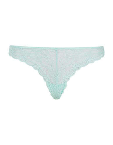 Topshop Cordelia Floral Lace Thong-TURQUOISE-UK 12/US 8