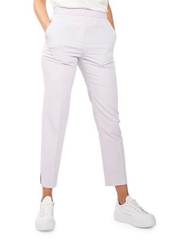 Topshop Tailored Suit Cigarette Trousers-LILAC-UK 6/US 2