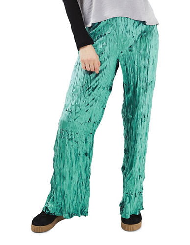 Topshop Crushed Velvet Trousers-JADE-UK 6/US 2