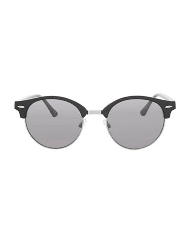 Topshop Carlos Round Retro Sunglasses-BLACK-One Size