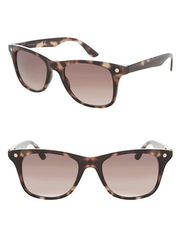Topshop Wilson Square Sunglasses-BROWN-One Size