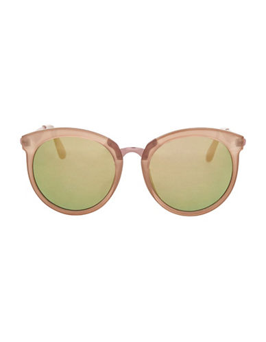 Topshop Sebb Round Sunglasses-NUDE-One Size 89173688_NUDE_One Size