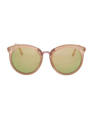 Topshop Sebb Round Sunglasses-NUDE-One Size
