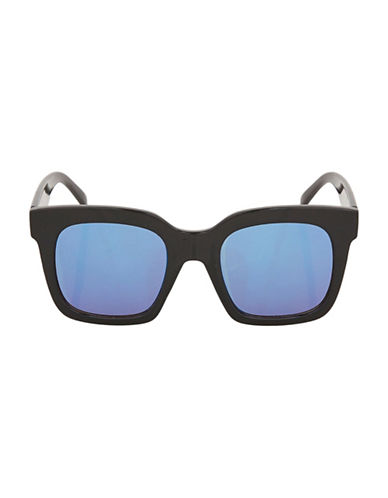 Topshop Wally Oversized Sunglasses-BLACK-One Size