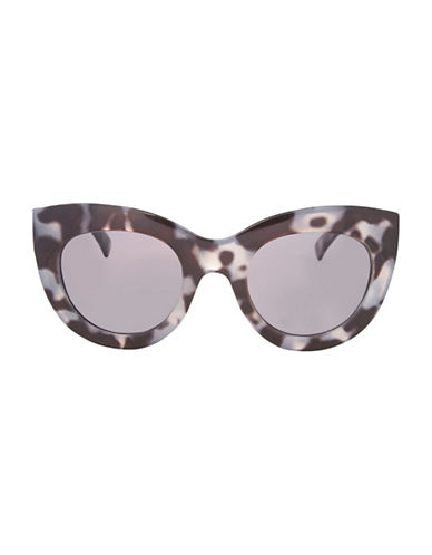 Topshop Swift Chunky Cat-Eye Sunglasses-MONOCHROME-One Size