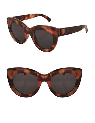 Topshop Swift Chunky Cateye Sunglasses-BROWN-One Size