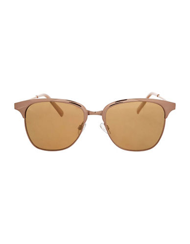 Topshop Cool Retro Sunglasses-ROSE GOLD-One Size