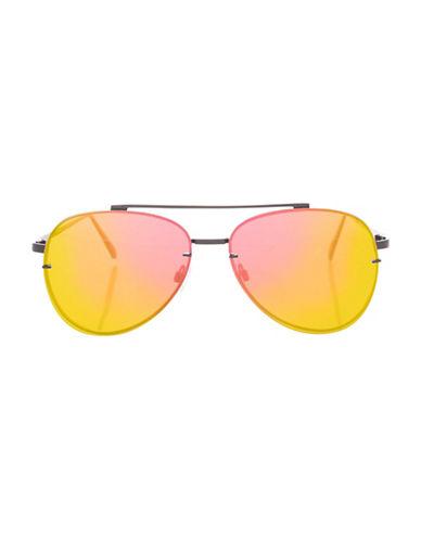 Topshop Attitude Flat Lens Sunglasses-PINK-One Size