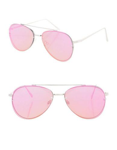 Topshop Attitude Flat Lens Sunglasses-LILAC-One Size