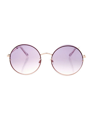 Topshop Melinda Dome Lens Sunglasses-ROSE GOLD-One Size