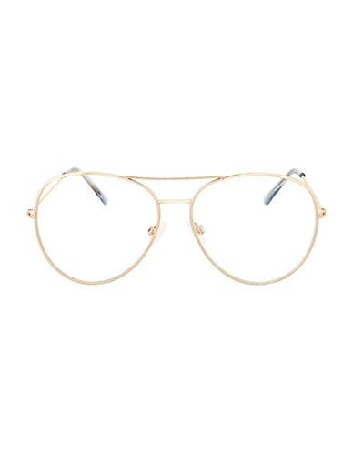 Topshop Arnie Reading Glasses-GOLD-One Size