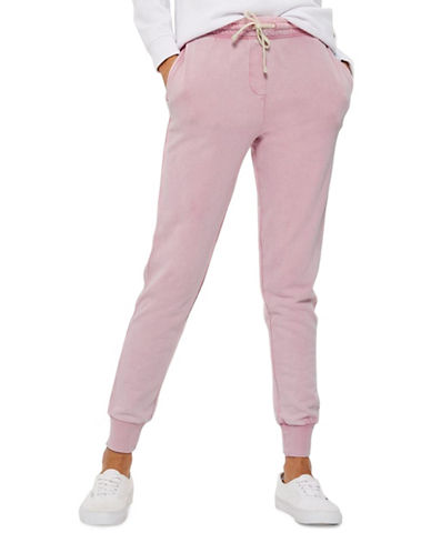 Topshop Sandwash Joggers-LIGHT PINK-UK 12/US 8