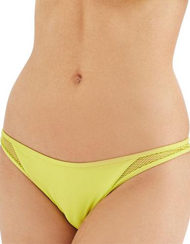 Topshop Wide Mesh Panties-LIME-UK 12/US 8