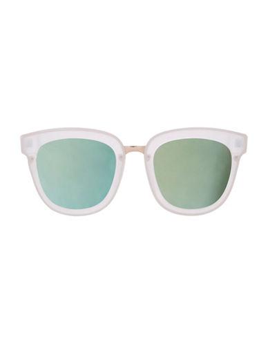 Topshop Walker Flat Lens Sunglasses-WHITE-One Size