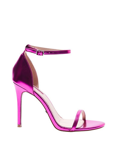 Topshop Rosalie Skinny Two-Part Sandals-PINK-EU 38/US 7.5