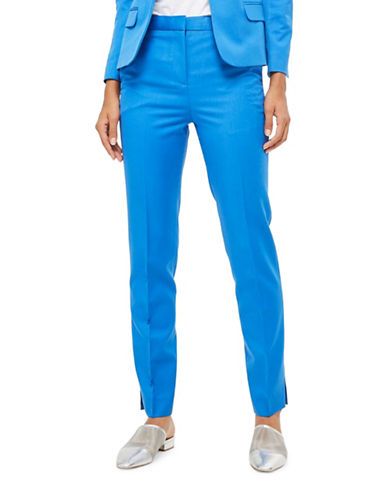 Topshop PETITE Fitted Suit Trousers-COBALT-UK 10/US 6