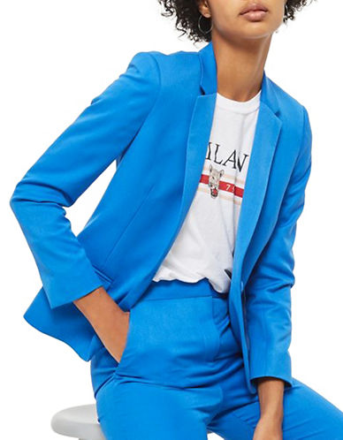 Topshop PETITE Co-Ord Suit Jacket-COBALT-UK 4/US 0