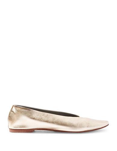 Topshop Kick Metallic Ballet Flats-GOLD-EU 37/US 6.5