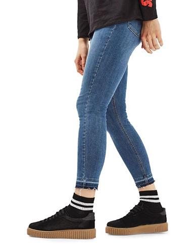 Topshop TALL Let Hem Jamie Jeans-MID DENIM-25x36