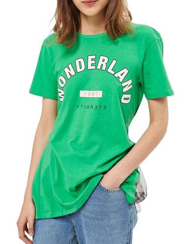Topshop Wonderland Tee-BRIGHT GREEN-UK 8/US 4