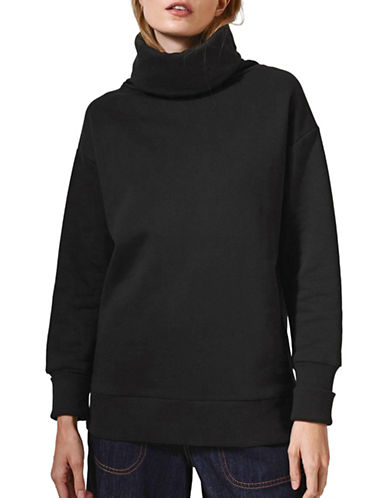 Topshop Diana Cowl Sweatshirt by Boutique-BLACK-UK 14/US 10