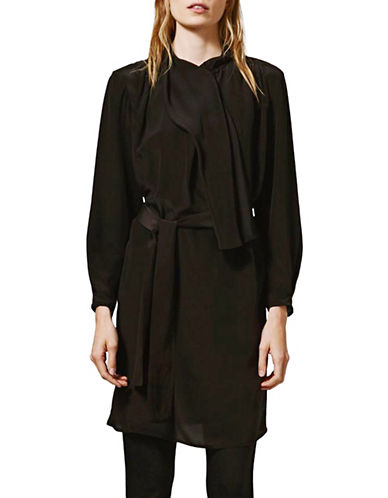 Topshop Scarf Drape Silk Dress by Boutique-BLACK-UK 8/US 4