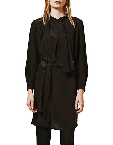 Topshop Scarf Drape Silk Dress by Boutique-BLACK-UK 10/US 6