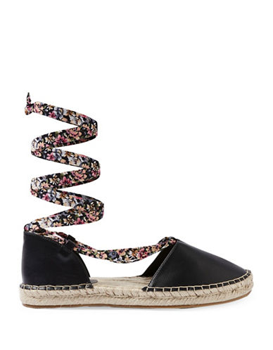 Topshop Aria Two-Part Espadrilles-BLACK-EU 36/US 5.5