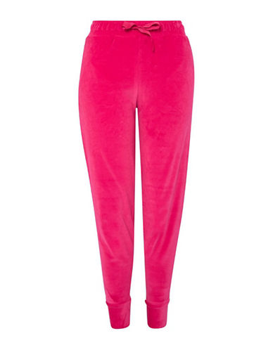 Topshop Velvet Joggers-BRIGHT PINK-UK 6/US 2