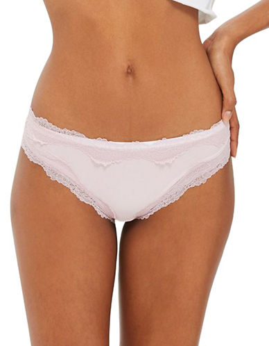 Topshop Lace-Trimmed Panties-LILAC-UK 12/US 8