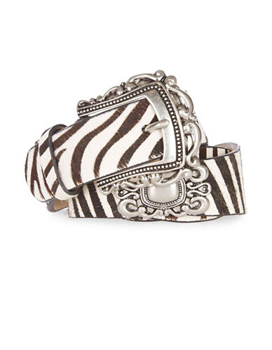 Topshop Zebra Western Belt-MONOCHROME-Small
