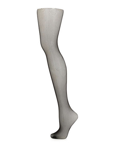 Topshop Micro Fishnet Tights-BLACK-Small