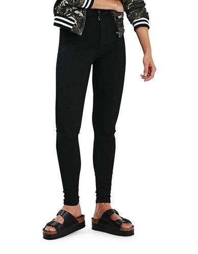 Topshop MOTO Joni Jeans 32-Inch Leg-BLACK-25X32