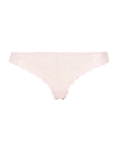 Topshop Cordelia Floral Lace Thong-BUBBLEGUM-UK 10/US 6